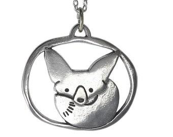 Fox Necklace - Fennec Fox Charm Necklace - Cute Fox Medallion Charm