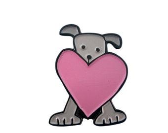 Dog and Heart Gift Pin -  Dog Pin