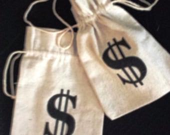 Mini Canvas Money bags -SIX