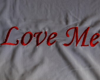 Love Me Embroidered Mesh