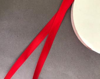 """5yds - 5/8"""" P.250 Red DF Satin Ribbon"""