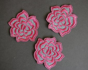 Pink Rose Applique