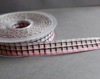 2yds - Plaid Organza Ribbon
