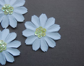 3pc - Green Sequin Daisy