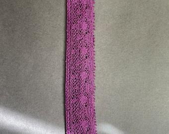 "3/4"" Purple Edge Lace"