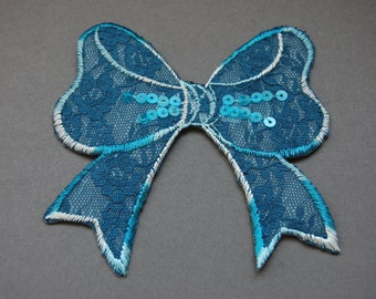 Large Lace Bow Heat Transfer