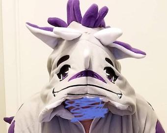 Custom Fursona Fleece Hat Furry Mask
