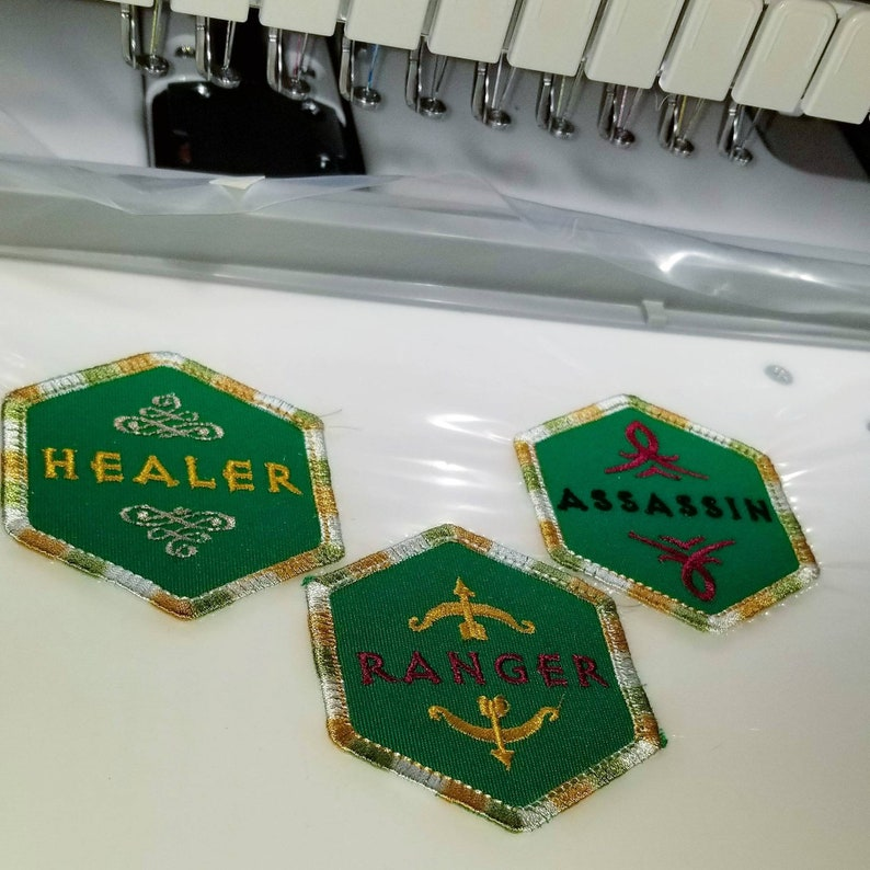 RPG / Gamer / Gaming / Job / Class / Embroidery / Patch / image 0