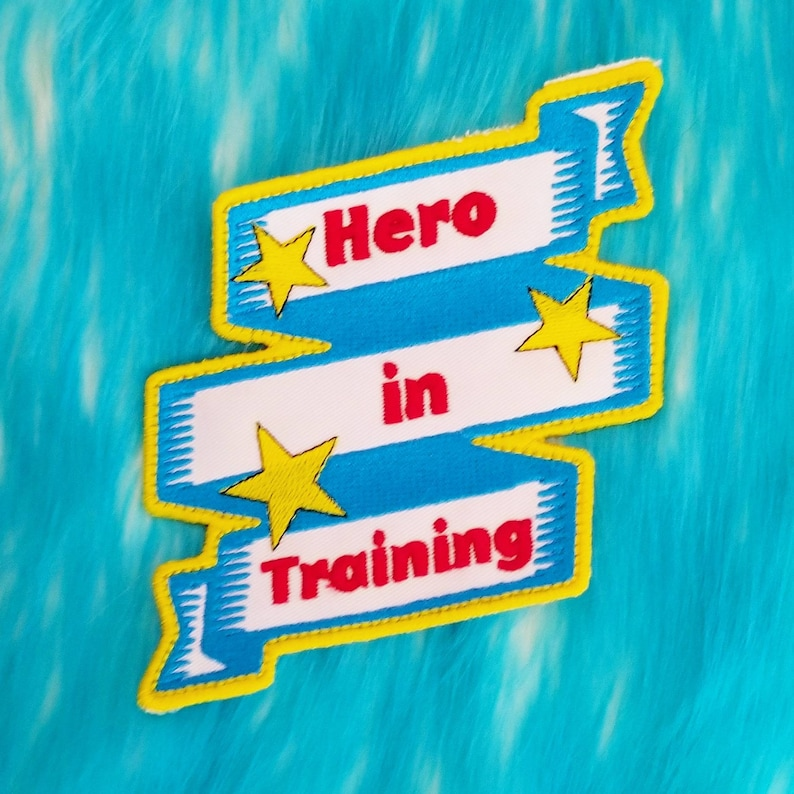 Hero in training embroidery cosplay  Patch image 0
