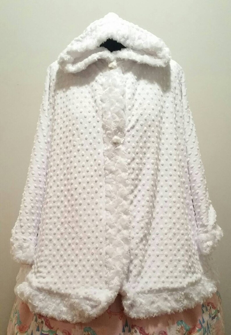 Long Hood Cape Minky Fleece Winter / Bridal / Lolita / Poncho image 0