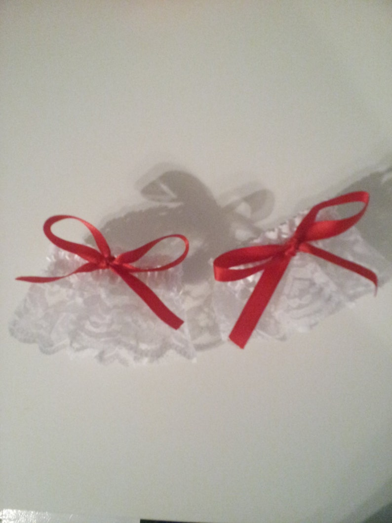 Lovely white and red lolita wrist cuffs set image 0