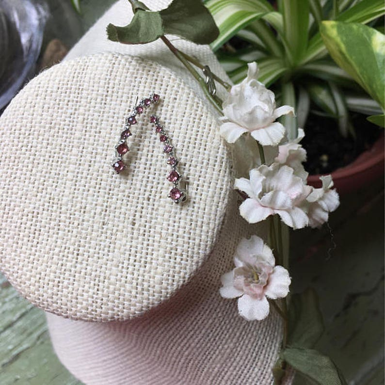 JEWELRY CLEARANCE CZ Cubic Zirconia silver or gold tone Ear Vines Climbers Cuffs Jackets Pins your choice of clear or pink