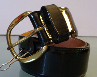 Vintage Harken Patent Leather Belt Size S