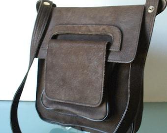 2b04be01ef4e Vintage Boho Dark Brown Shoulder Bag