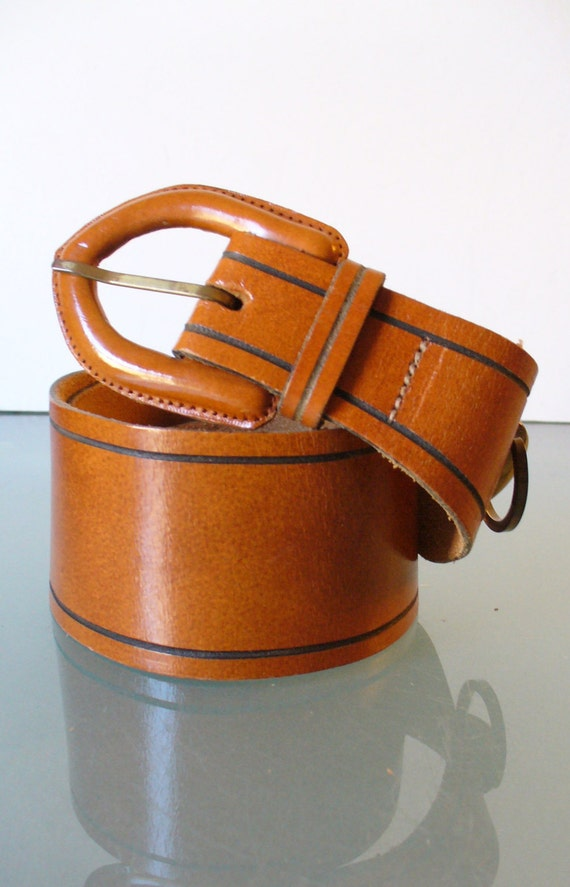 Vintage Antique Saddle Leather Corset Belt