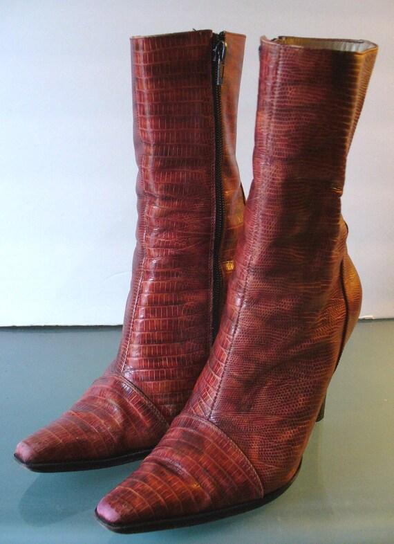 Vintage Julian Ferreira Lizard  Boots