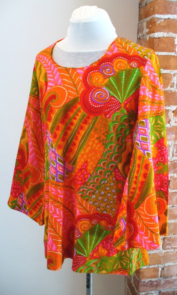 Vintage Beach Mates Psychedelic Cover Up