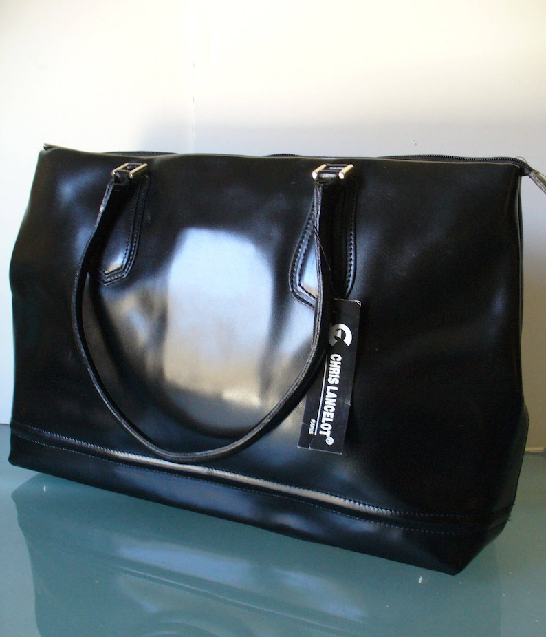 c5cb75bc3257 Chris Lancelot Made in France Leather Tote Bag
