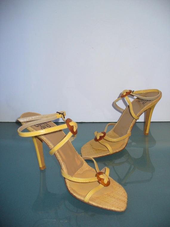Vintage Charles David Leather Sky High Sandals Siz
