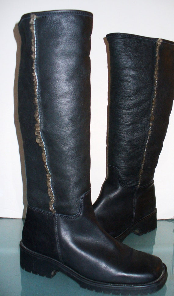 L.L. Bean Shearling Lined Leather Tall