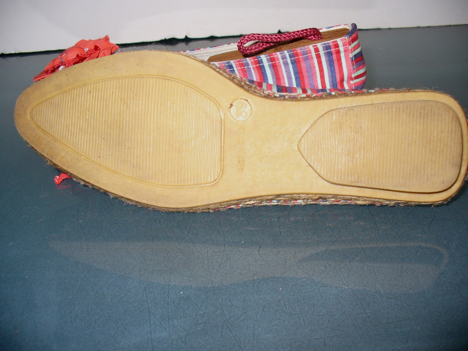striped ballet flat espadrilles made in spain size 39 eu