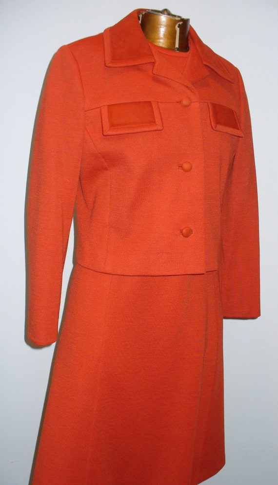 Vintage  Vilano Wool Knit Dress & Jacket Set