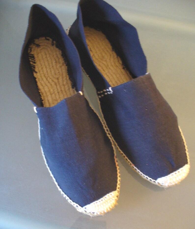 Artesania Made In Spain Navy Blue Espadrilles Size 43 Eu