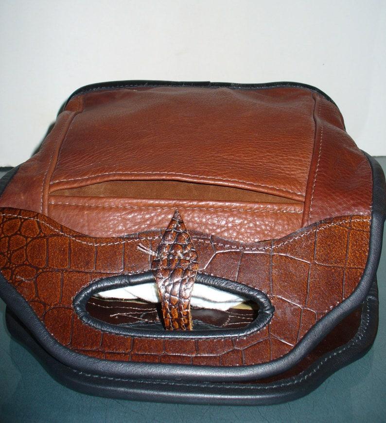 Vintage Artisan Chocolate Brown Tote Bag