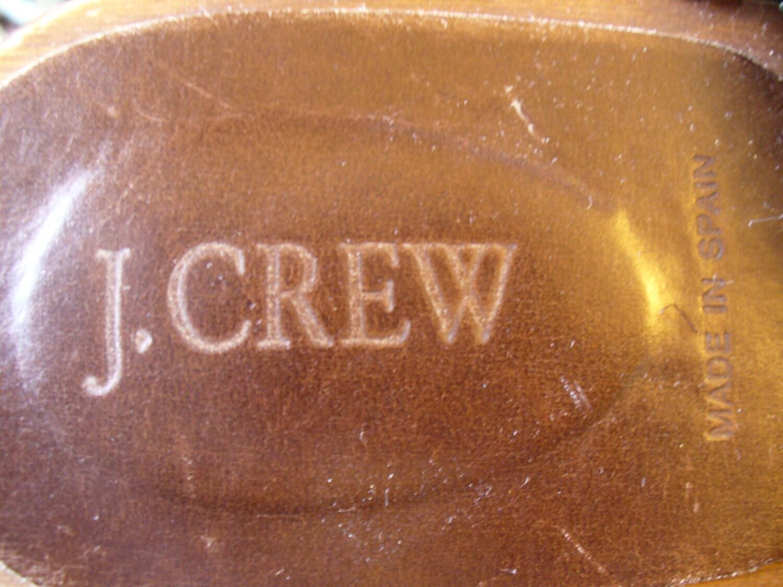 J. vintage Crew cuir flanelle sabots nous nous nous a fait en Espagne taille 9M d9e15e