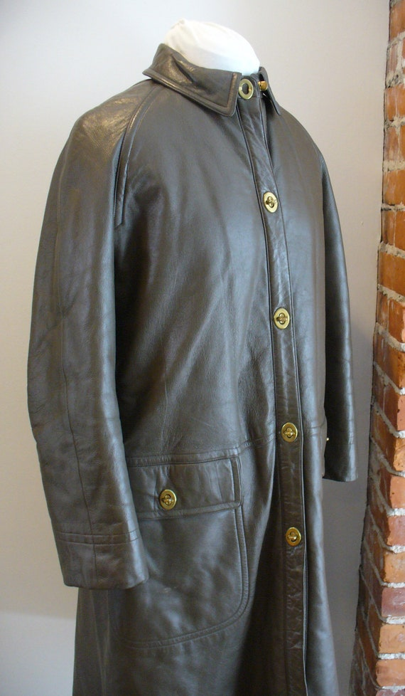 Vintage Bonnie Cashin For Sills Leather Coat 1960'