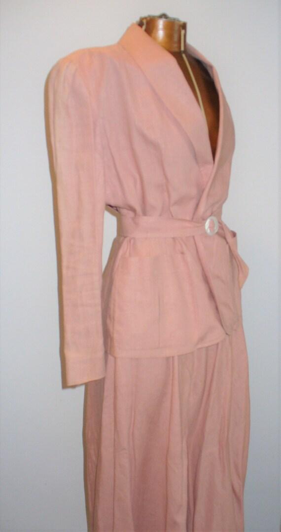 Ralph Lauren Rose Linen Ladies Jacket Suit - image 9
