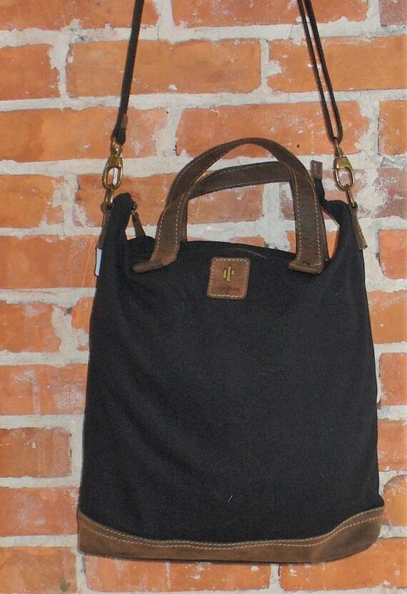 Vintage Cactus Canvas & Leather Tote Bag