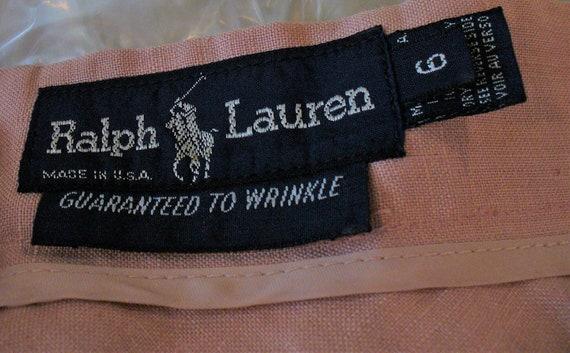 Ralph Lauren Rose Linen Ladies Jacket Suit - image 3