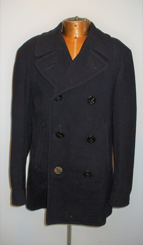 Vintage US Navy Wool Pea Coat