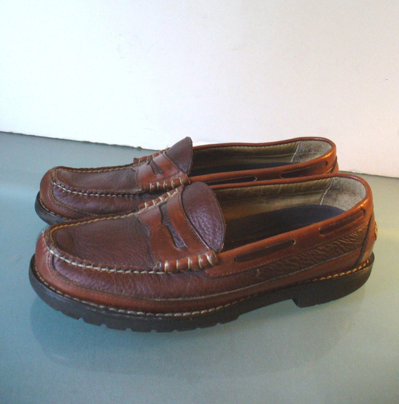 28655991375 L.L. Bean Men s Moccasin Style Penny Loafers Size 8.5D