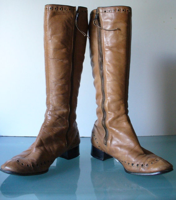 Vintage Sandler of Boston Mod Boots Size 7N US