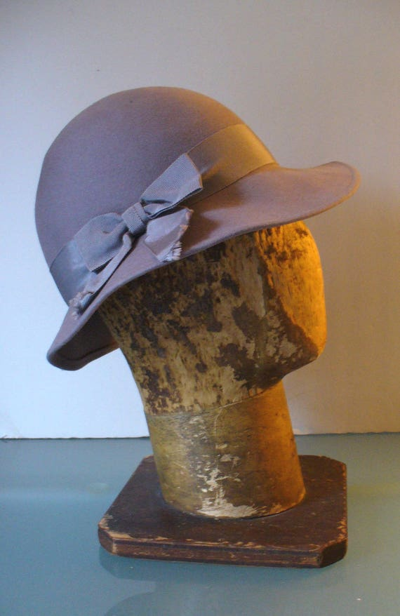Vintage Pappagallo Wool  Brimmed Hat