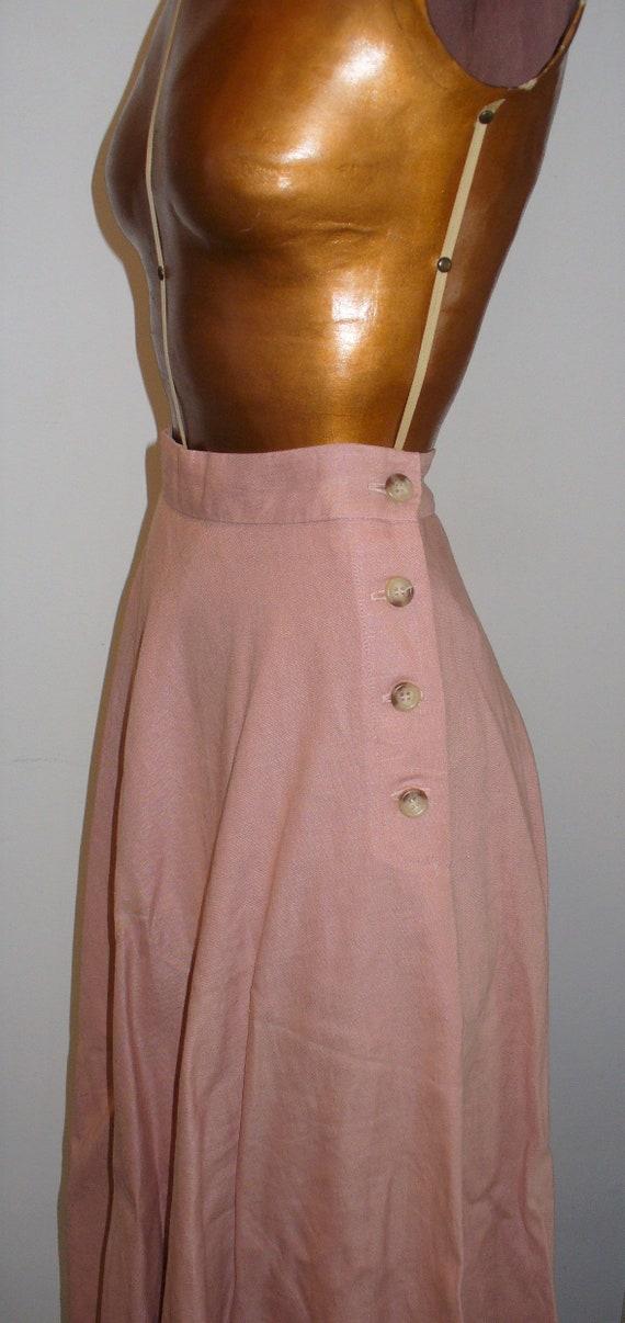 Ralph Lauren Rose Linen Ladies Jacket Suit - image 4