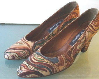 Vintage Stuart Weitzman For Mr. Seymour Marbled Shoes 7AA