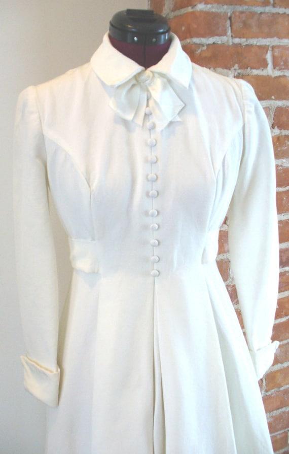 Vintage House of Bianchi Shirt Waist Wedding Dress