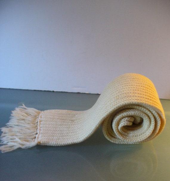 Vintage Pendleton Wool Ribbed Knit Neck Scarf