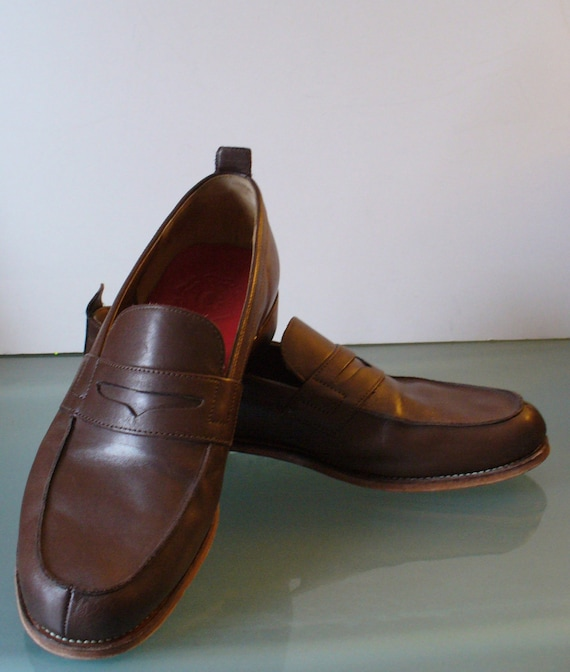 Grenson England Penny Loafers Size 10.5E - image 1