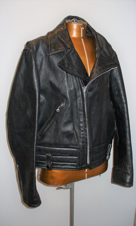 Vintage Schott Perfecto Black Leather Jacket Size