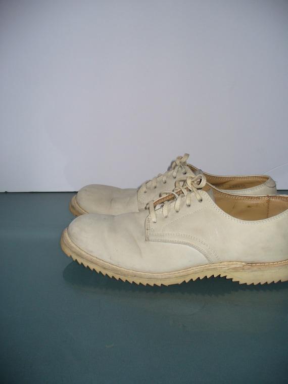 Vintage Kee-Ger White Buck Oxfords - image 5