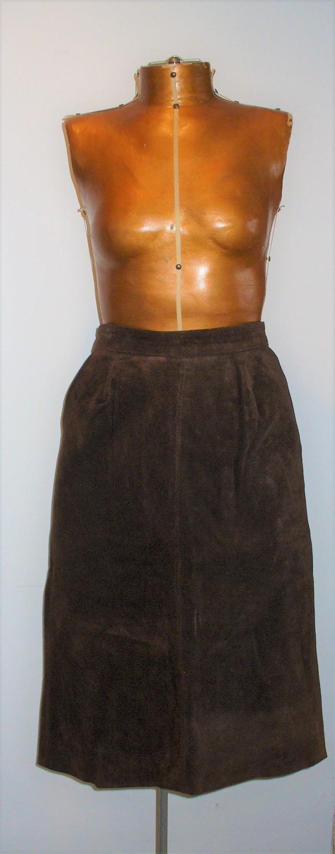 Vintage Cavallina Brown Suede Skirt Size 9/10