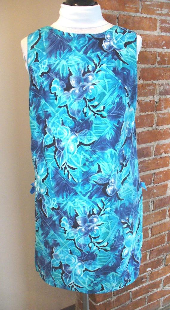 Royal Hawaiian Royal Blue Vintage Dress