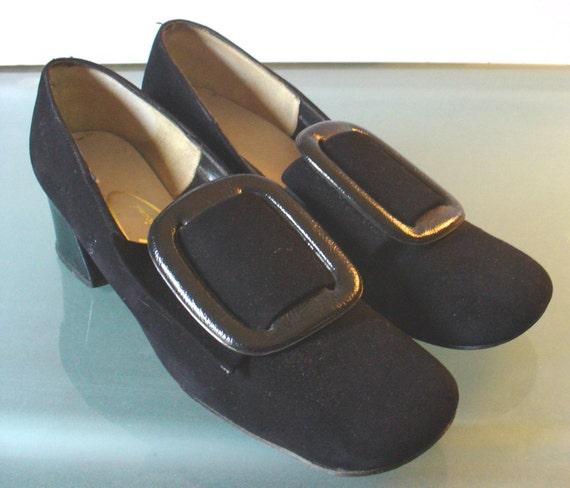 Vintage Viva Americana Suede Pilgrim Buckle Shoes