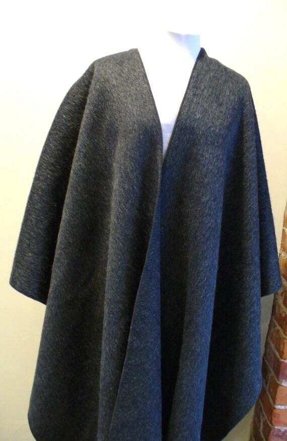 Vintage Merle Mohair & Wool Serape Cape