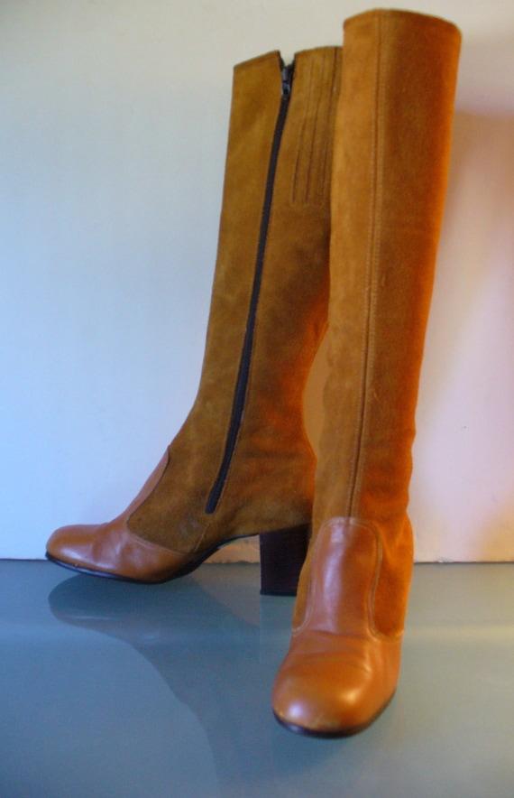 Vintage Suede Mod Boots Size 5.5 US