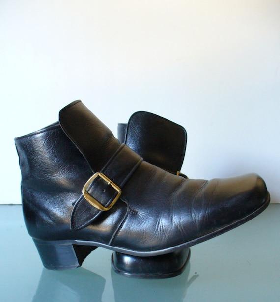 Vintage Regal Mod Black Beat Boots